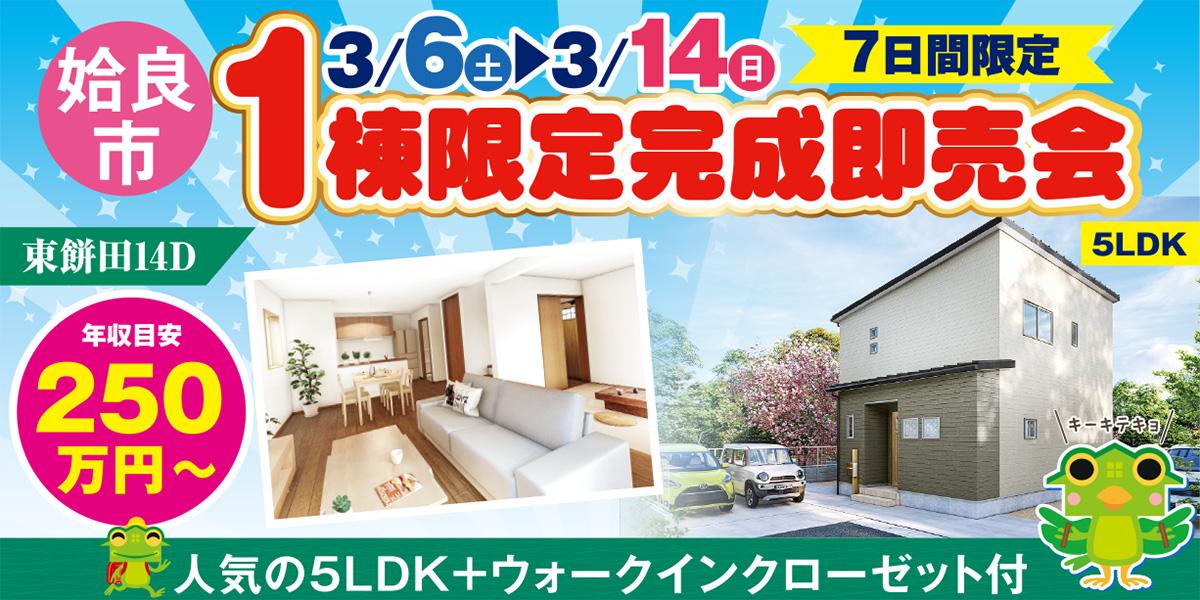 【姶良市】新築建売 3/6(土)~14(日)「1棟限定完成即売会!」